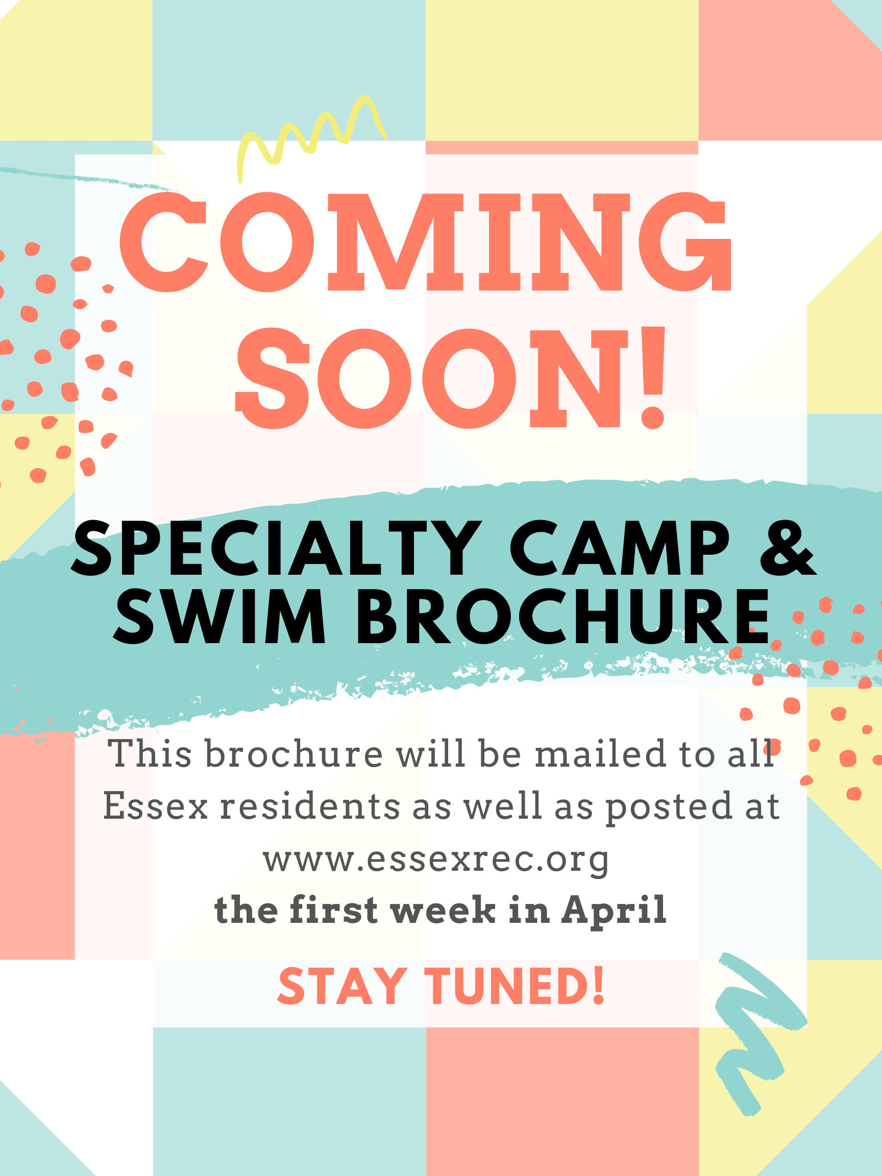 Specialty Camps & Swim Brochure coming soon!