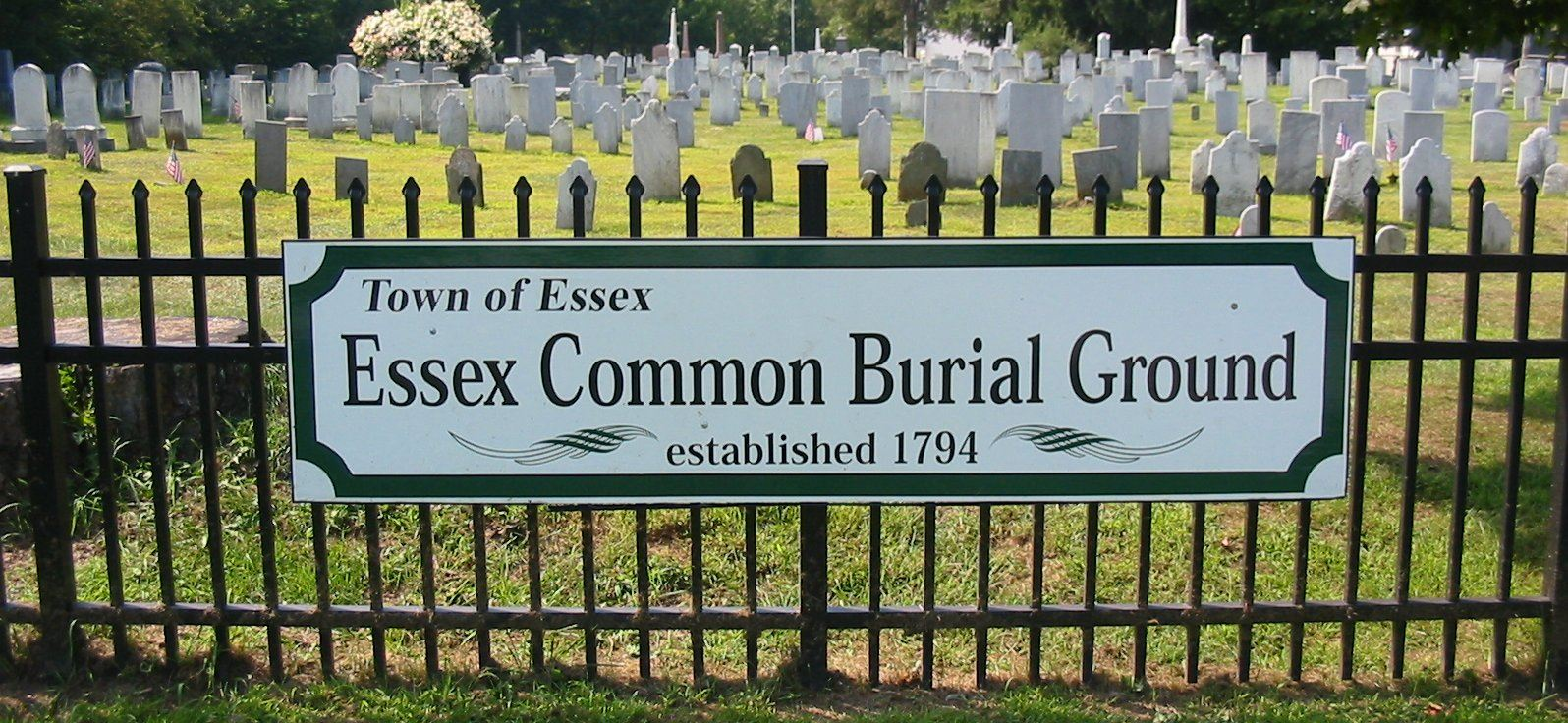 Essex Common Burial Ground Established 1794